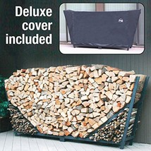 ShelterIt Slanted Firewood Log Rack with Kindling Wood Holder and Waterp... - $276.19
