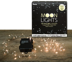 MoonLights 60 ct - Battery Operated - Silver Wire Wreahs Floral Home  - €29,85 EUR