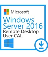 Microsoft Windows server 2016 Remote Desktop Services RDS 50 User CAL - $58.99