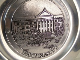 Purdue University Hovde Hall Engraved 11 Inch Pewter Plate RWP Wilton Columbia  - $37.99