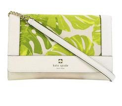 Kate Spade Palm Leaf Print Kari Perri Lane Shoulder Bag Magnolia NWT - $158.39