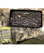 Travelon RFID Blocking Zip Wallet Clutch Wristlet Purse Strap wTag LEOPA... - $24.99