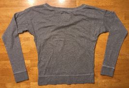 Abercrombie Kid's Girl's Gray Long Sleeve V-Neck Shirt - Size Small image 11