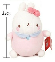 "Molang Baby Stuffed Animal Rabbit Plush Toy Soft Mochi Fluffy 9.8"" (Pink) image 2"