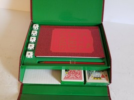 Ultimate Dice & Card Game Compendium~Case/Dice/Book/Cards/pencil~NO SCOR... - $28.04