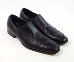 CALVIN KLEIN Black Leather Split Toe Moccasin Loafers Dress Shoes Mens 13 Size M - $29.69