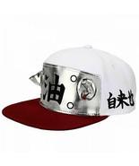 Naruto Sage Cosplay Flat Bill Snapback Hat White - $34.98