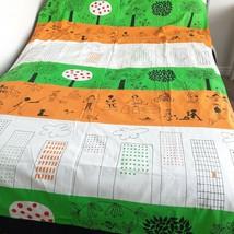 Ikea Onskedrom Single Duvet Cover Children's Kids Cityscape Orange Green... - $18.99