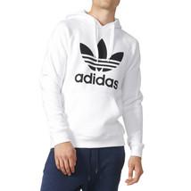 Adidas Originals Longsleeve Trefoil Men's Hoodie White-Black ay6474 - $69.95