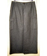 EDDIE BAUER Charcoal Gray Heather Long Lined Wool Blend Maxi Cargo Skirt... - $19.50