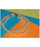 Faux Cream Pearl Double Strand Bracelet  - $19.97