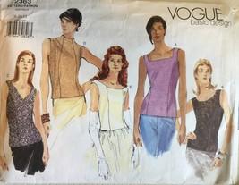 Vogue 2363 Misses' Basic Design Sleeveless Tops  Sizes 8-10-12  Cut - $14.99