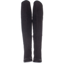 Kenneth Cole New York Jack Over The Knee Block Heel Boots 878, Black - $64.31