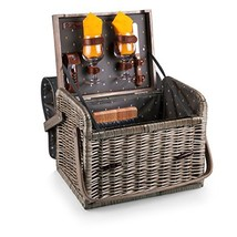 Picnic Time Kabrio Picnic Basket with Wine and Cheese Service for Two, A... - $84.50