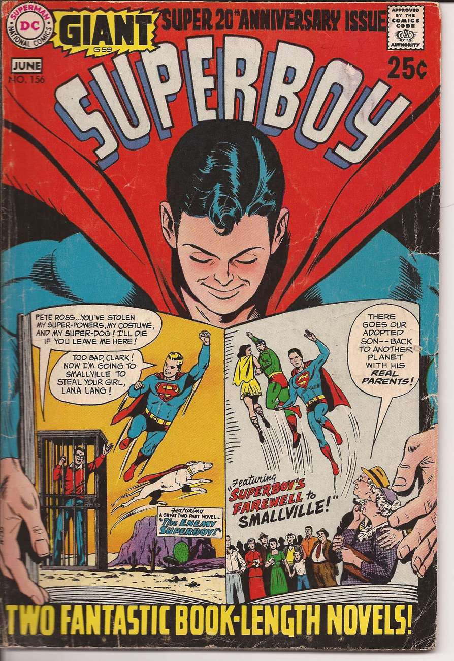 Primary image for DC Giant G59 Superboy #156 20th Anniversary Issue Clark Kent Smallville P Ross