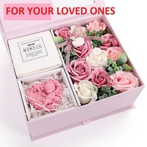 Artificial Soap Flower Rose Gift Box Rose Soap Home Decor Valentine birt... - $34.99