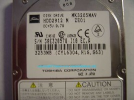 3.2GB 2.5IN 12.7MM IDE Drive Toshiba MK3205MAV HDD2912 Tested Good Free USA Ship