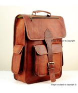 "16"" Leather Backpack for laptop, office, Mack book School Backpack Bag B... - $62.24+"