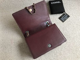 AUTHENTIC NEW Chanel Burgundy Quilted LAMBSKIN FLAP BAG GOLDTONE HW image 7