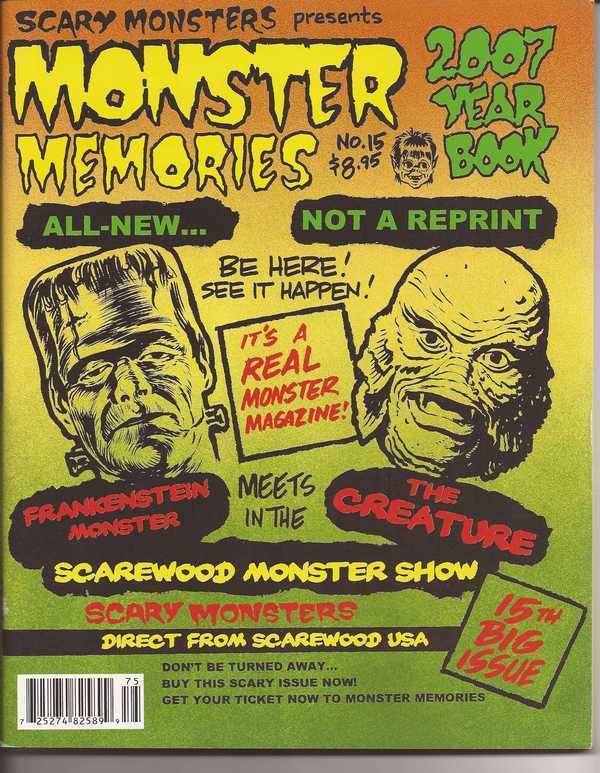 Scary Monsters Monster Memories #15  Frankenstein Monster Meets The Creature