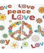 Curtains Floral Peace Symbol Print Backdrop 10612 - $38.09
