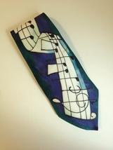 Heather Butlin Silks Mens Neck Tie 100% Silk Scotland Hand Painted Music... - $40.00