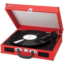 Jensen JTA-410 Red Portable Battery Operated Turntable w/Built-in Speake... - £49.44 GBP