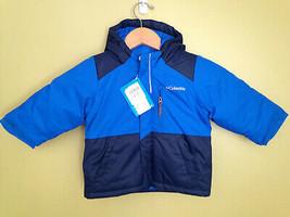 NWT Columbia Lightning Lift Blue Toddler Boys Hooded Winter Jacket 2T $90 - $57.42