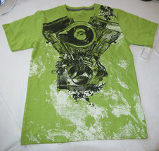 Boy's Youth Calvin Klein short sleeve t shirt NEW NWT Moss Green L 35641... - $13.36