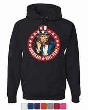 America Hell Yeah Hoodie Uncle Sam Patriotic Stars and Stripes Sweatshirt - $21.95+