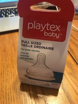 Playtex Baby 2-Pack Fast Flow Full-Sized Silicone Nipples 3-6 M+ Ships N 24h - $7.90