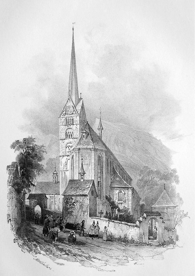 Primary image for AUSTRIA Cathedral of Stanz - SUPERB Litho Antique Print