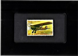 Tchotchke Framed Stamp Art Collectable Postage Stamp - Breguet 19-BR Air... - $8.95