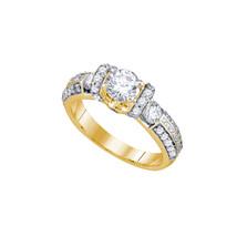 14k Yellow Gold Round Diamond Bridal Wedding Engagement Anniversary Ring... - $4,500.00