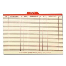 """Smead 53910 Charge-Out Record Guides, 1/5, Red """"OUT"""" Tab, Manila, Legal ... - $29.99"""