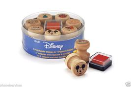 Disney 7 Wood Peg Handle Mickey Mouse Rubber Stamps•¿•) - $19.99