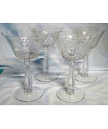 Fostoria Heather Champagne or Tall Sherbet Glass set of 4 - $28.60