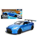 Brians 2009 Nissan GTR R35 Blue Ben Sopra Fast & Furious Movie 1/24 Diec... - $36.47