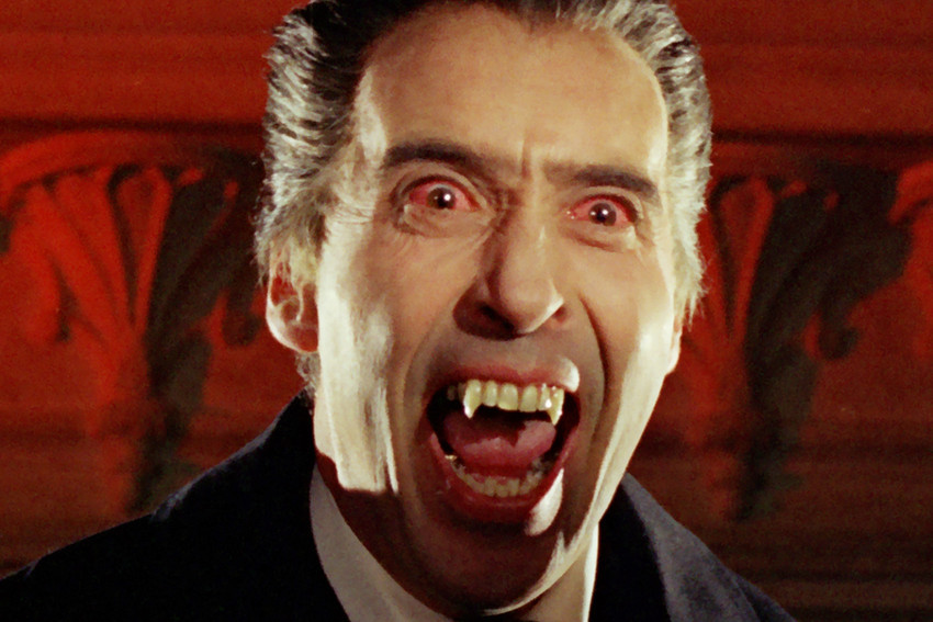 Primary image for Christopher Lee Bearing Fangs With Red Eyes Dracula Hammer 18x24 Poster