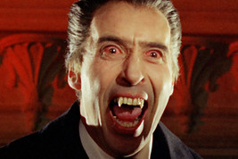 Christopher Lee Bearing Fangs With Red Eyes Dracula Hammer 18x24 Poster - $23.99