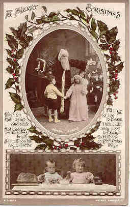 Primary image for Santa With The Kiddies Vintage 1916 Photo Post Card