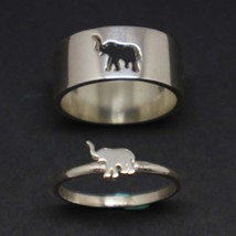 Elephant Couple Set Promise Ring - $83.00