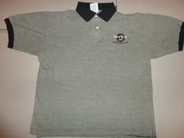 Black & Gray Rock Cafe Puerto Vallarta Mexico Embroidered Polo Shirt Wom... - $25.69