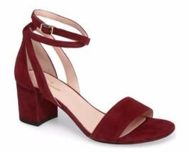 Women's Shoes Kate Spade WATSON TOO Dress Sandals Heels Suede Deep  Crimson Red - $116.10