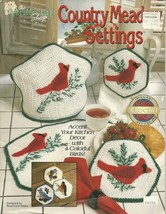 Country Meadow Settings crochet patterns ~ THE NEEDLE SHOP VINTAGE 1991 - $19.95