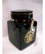 Starbucks Coffee Small Green Square Canister Mermaid Logo - $19.99