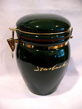Starbucks Coffee Large Green Round Canister - $24.99