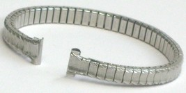 Ladies Silver Stainless Steel 8mm Stretch Expansion Watch Band (Twist-o-... - $19.00