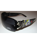 Black Tattoo Designer Wrap Sunglasses Panther Skull Von Dolce Brand Men Womens - $10.99