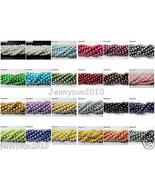 100pcs Top Quality Czech Glass Pearl Round Beads 3mm 4mm 6mm 8mm 10mm 12... - $0.98+